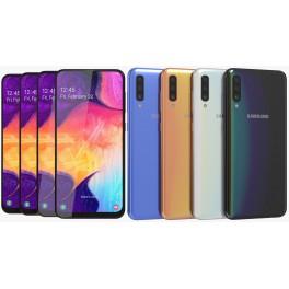 """Samsung Galaxy A50 6,4"""" 4/128Gb azul blanco negro y coral"""